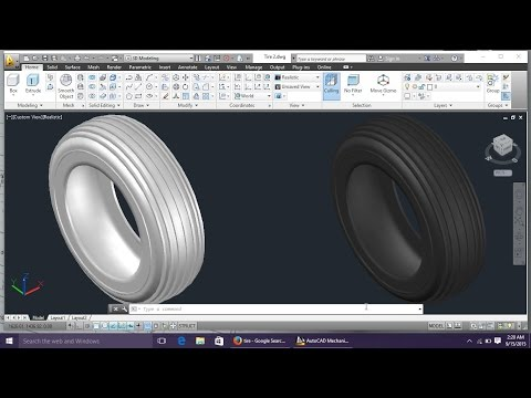 AutoCAD 3D Modeling 5 Tire By Engineer AutoCAD Tutorials