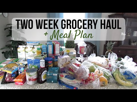 Two Week Grocery Haul + Meal Plan