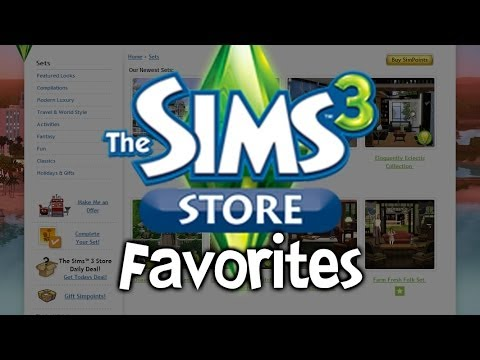 My Favorites from The Sims 3 Store!