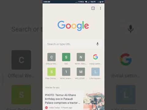 How to  add bookmarks to google chrome android