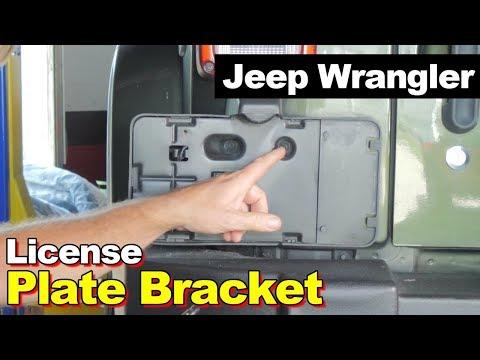 2007-2016 Jeep Wrangler Rear License Plate Bracket Holder