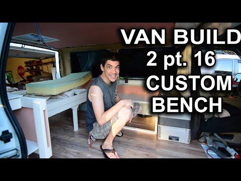 VAN BUILD 2pt.16 CUSTOM BENCH SEAT, ULTIMATE STEALTH ASTRO CAMPER VAN DWELLING