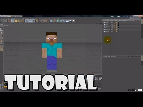 [Cinema4D Tutorial] 1. Minecraft Character Model Texture
