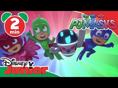 PJ Masks | Wolfy Tries to Steal the Moon! 🌕 | Disney Junior UK