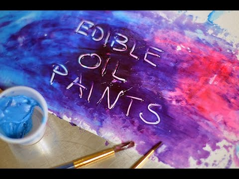 How to make edible oil paints
