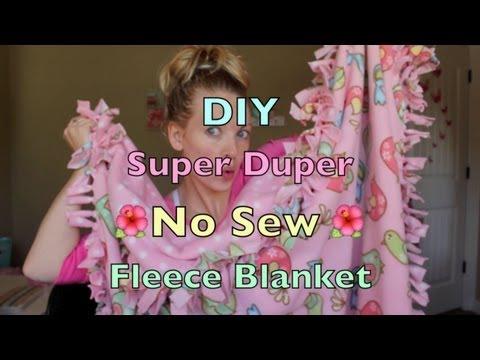 DIY Super Duper No Sew Fleece Blanket Tutorial!