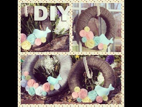 DIY Spring Wreath | ArtsyPaints