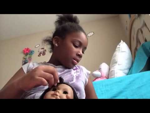 How to curl your American girl doll hair