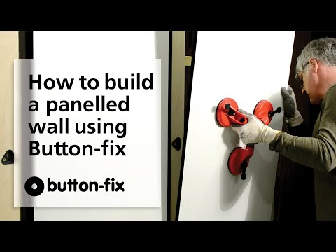 How to build a panelled wall using Button-fix