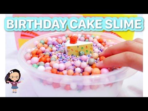 BIRTHDAY CAKE SLIME ❤️ Floam Slime