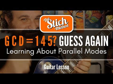 Parallel Modes: Ionian and Mixolydian Guitar Lesson. How to Use them Together