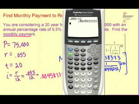 Ch. 7 Find Monthly Payment to Repay Loan