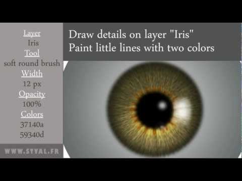 How to paint a realistic EYE with Photoshop  (1/3)