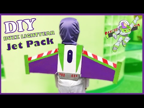 DIY Buzz Lightyear Jetpack - Easy and FREE Toy Story Costume Idea and How To