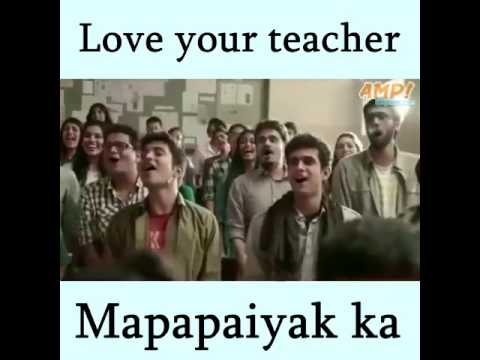 Love your teacher - I bet you will cry