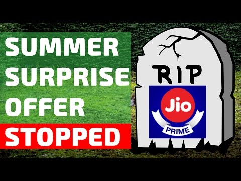 Jio Summer Surprise Offer Stopped