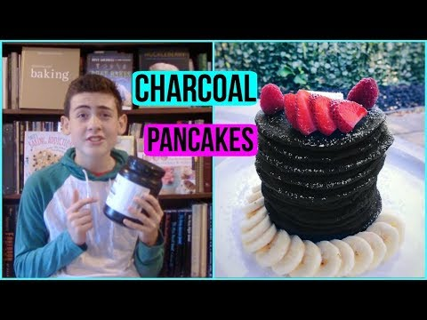 DIY BLACK PANCAKES🥞 made with CHARCOAL!! Episode 37 Baking With Ryan