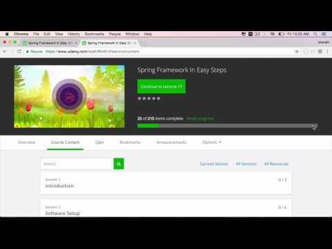 New Spring Framework in Easy Steps Course On UDemy