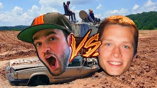 ALI-A VS TMARTN | CRUSHING CARS WITH WWII TANKS