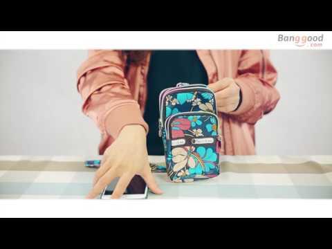 Mini Fashion Pattern Sport Shoulder Wrist Bag Purse For iPhone Xiaomi