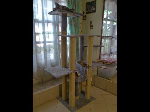 D.I.Y. Cat Tree made from reuse paper rolls
