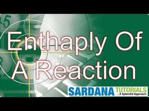 Enthalpy Of A Reaction
