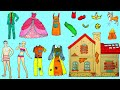 Paper Dolls Rich And Poor Story Dress Up Quiet Book Handmade Papercrafts
