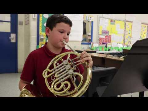 Meet 4th grade Horn player, Liam.