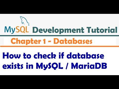 How to check if database exists in MySQL - MySQL Developer Tutorial