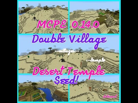 MCPE 0.14.0 ' I Hate Minecraft' seed Double Village and Desert Temple