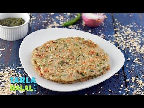 Spicy Oats Pancake ( Low Cholesterol) by Tarla Dalal