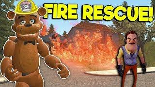 Saving The Neighbor From A House Fire! - Garry