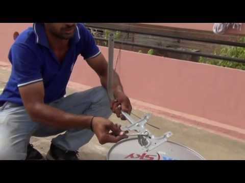 Assembling of Tata-Sky Dish (Live Video) (Hindi) (720p HD)