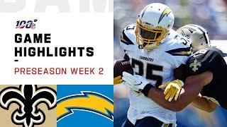 Saints vs. Chargers Preseason Week 2 Highlights | NFL 2019