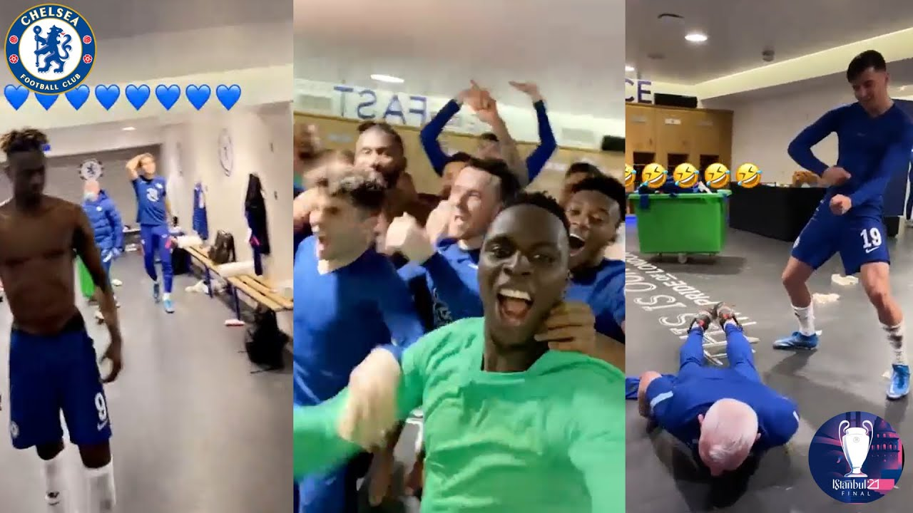 Chelsea Locker Room Celebrations After Reaching The Champions League Final