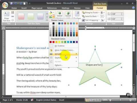 Microsoft Word 2007 ENG TB 05 07 Format a Shape