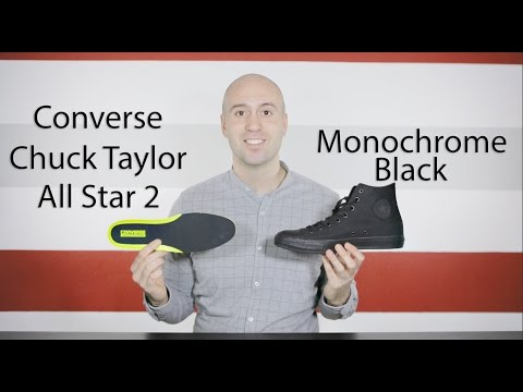 Chuck Taylor All Star 2 Mono Black - Review + Unboxing + Close up + On a68090665