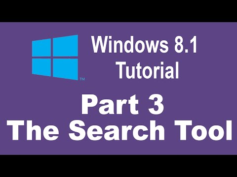 Windows 8.1 Tutorial - How to Use Search Tools in Windows 8.1