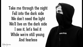 Alan Walker - Darkside (Lyrics) 🎵feat. Au/Ra and Tomine Harket