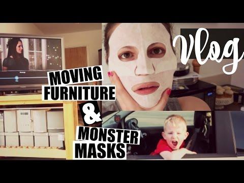 VLOG / Moving Furniture & Monster Masks