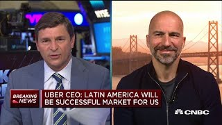 Watch Uber CEO Dara Khosrowshahi's full interview following Q2 earnings miss