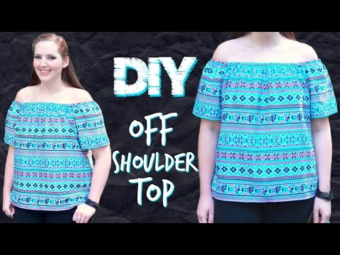 DIY Off the Shoulder Top with Sleeves Sewing Tutorial | How to Sew Easy