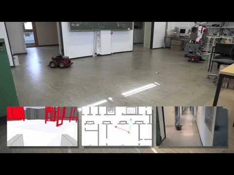Hunt and Prey Scenario with Mobile Robots