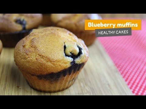 BLUEBERRY MUFFINS • Healthy cakes #4