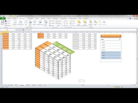 Create a 3D Table Cube