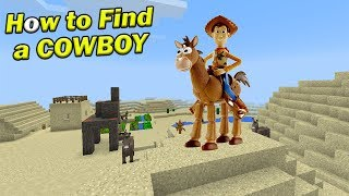 How to Find a COWBOY | Minecraft PE