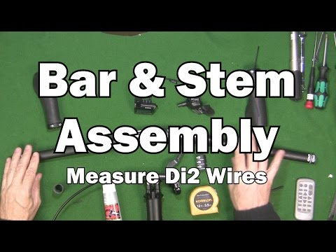 Handlebar and Stem Assembly - measure di2 wires