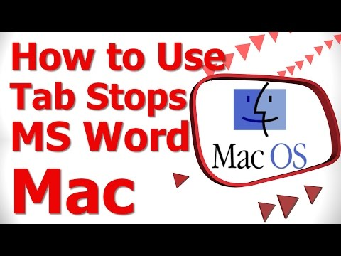 How to Use Tab Stops MS Word Mac