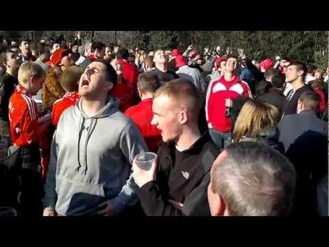 Liverpool fans at Green Man Pub Wembley