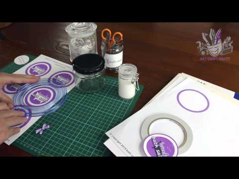how to make labels for homemade bath salts jars